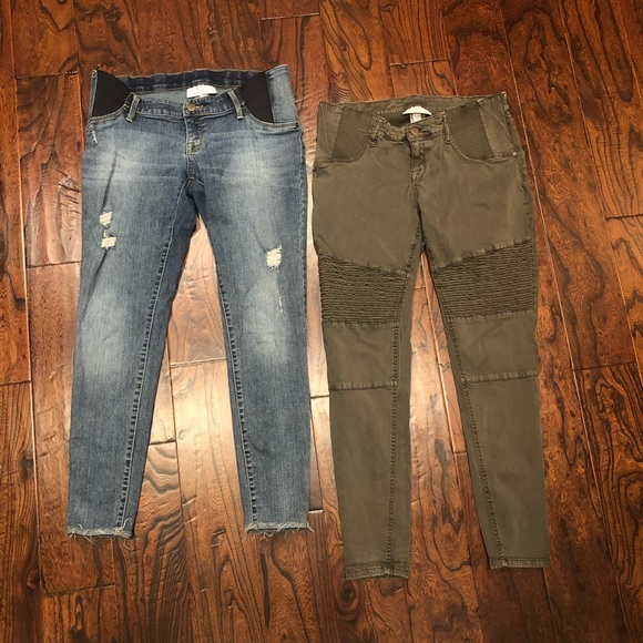Isabel Maternity by Ingrid & Isabel Pants - Lot of 2 Under the Bump Maternity Pants